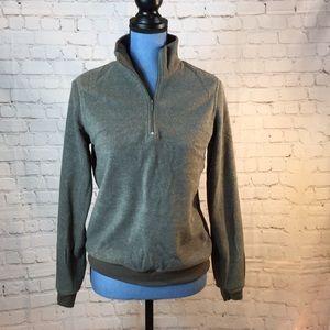 Cherokee army green zip pullover fleece